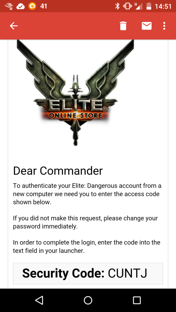 Elite Dangerous CUNTJ code